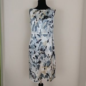 Ann Taylor Silk Watercolor Print Sheath Dress